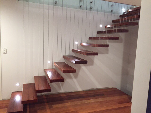 indoor floating stairs